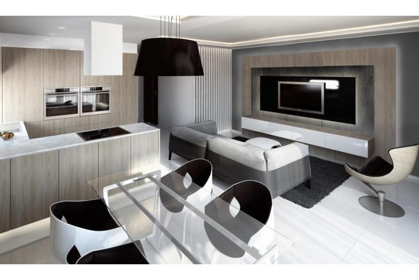 A mybudapesthome oldalán találtuk ezt 77 nm-es minimalizmus jegyében elképzelt otthont 241 300 euróért (74 328 000 HUF)