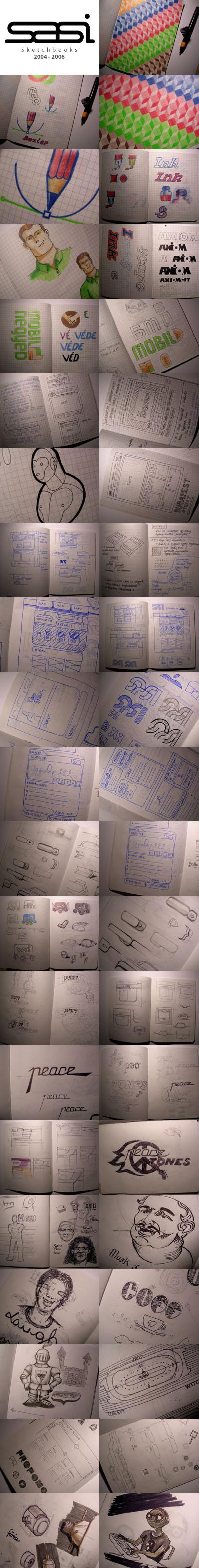 Sketchbook lapok válogatás