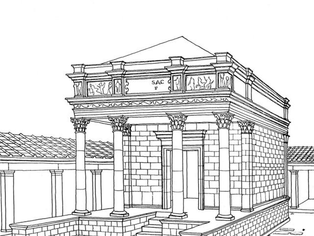 Az Iseum központi szentélyépülete