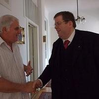 Schmuck Andor találkozója Dr. Derce Tamás polgármester úrral
