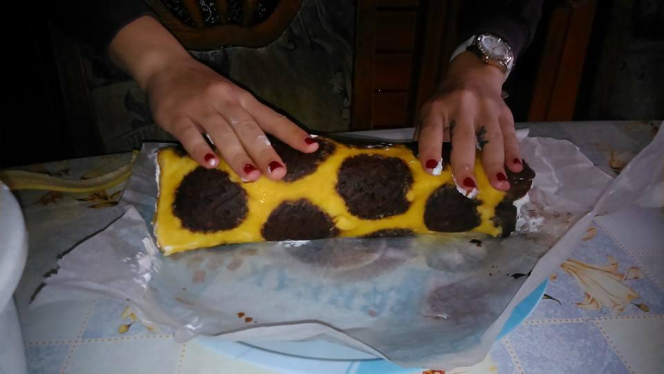 szülinapi sütemény Zsiráfnyak süti a Safari témájú kis szülinapi partyra (glutén és  szülinapi sütemény