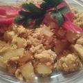 Tofu rántotta - vegán reggeli - Cukros diétám 3