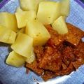 Szejtán gördice főtt burgonyával