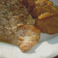Sült hal sütőtökös csicsókapürével