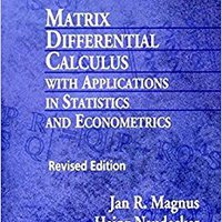 ^READ^ Matrix Differential Calculus With Applications In Statistics And Econometrics, 2nd Edition. cantante journey finest Cataluna resulto