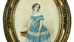 Canzi Ágoston (1808–1866): Semmelweis Ignácné Weidenhofer Mária (1837–1910) eljegyzési portréja