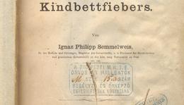 Semmelweis Ignác: Die Aetiologiae, der Begriff und die Prophylaxis des Kindbettfiebers. Pest, Wien und Leipzig, C. A. Hartleben's Verlags-Expedition, 1861.