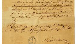 Semmelweis Ignác halotti levele 1865. augusztus 13-án történt haláláról