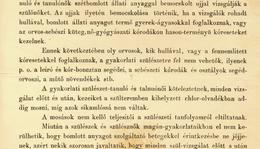 Semmelweis Ignác nyomtatott utasítványa a pesti m. k. egyetemi szülészeti kórodán tanulók és tanulónők részére a gyermekágyi láz elhárítása végett