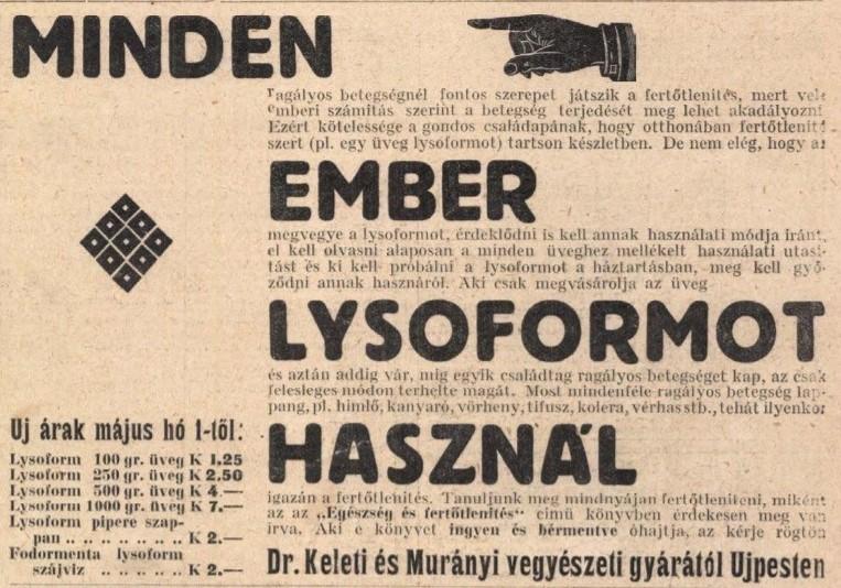 A modern orvostudomány egyik fegyvere: a Lysoform