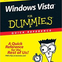 Windows Vista For Dummies Quick Reference Free Download
