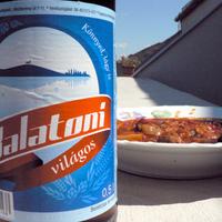 Sörözés a Balatonon