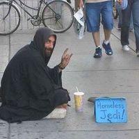A nap képe: a hajléktalan, akivel ott van az Erő