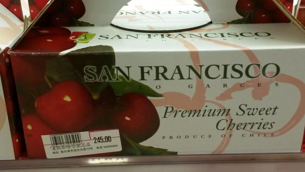 Premium cseresznye egyenesen San Franciscobol.