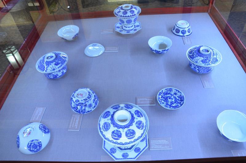 Thieu Tri csaszar (1841-1847) altal hasznalt porcelan keszlet