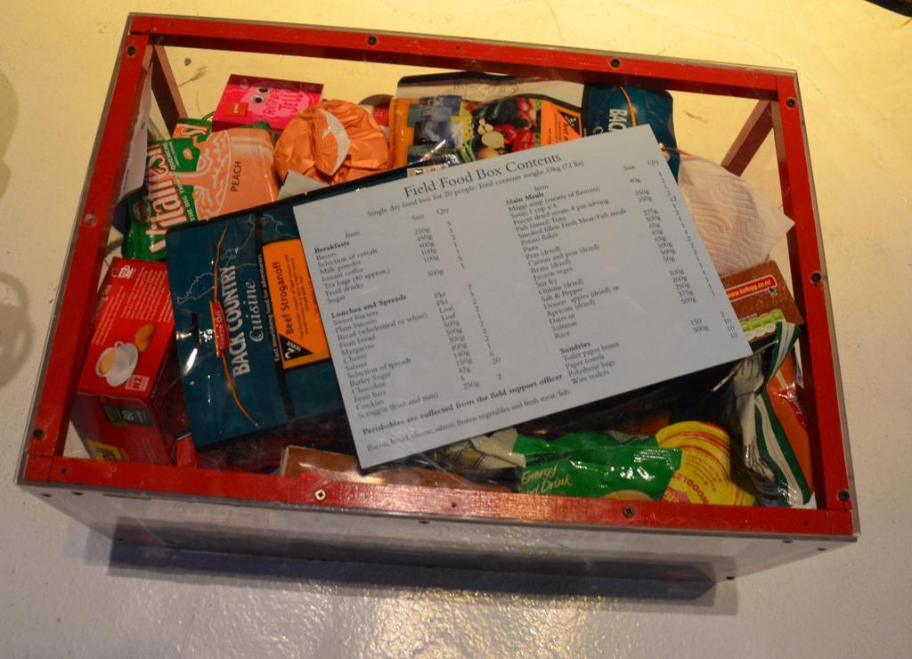 Sarkvideki kutatok elelmiszer csomagja