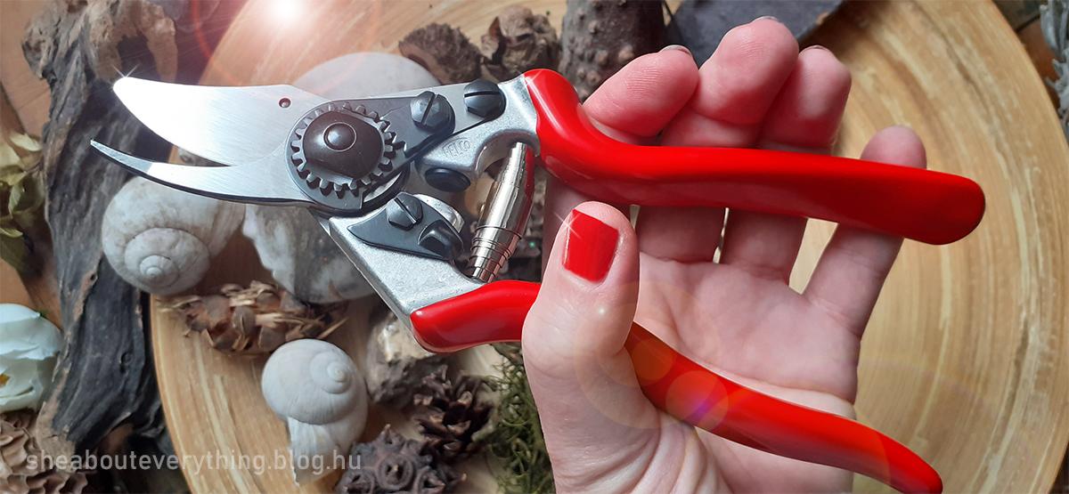 Egy kis piros bombázó: íme a Felco 6 metszőolló