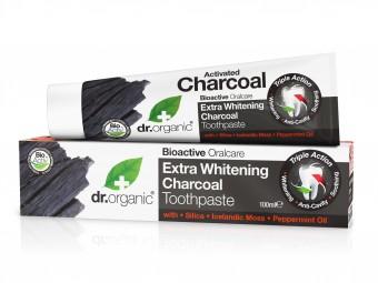 Extra fehérítő fogkrém aktív szénnel <br />Bioaktív, természetes, bio összetevők:<br />Aloe Vera<br />Aktív szén<br />Vadgesztenye (természetes ínyvédő hatás)<br />Izlandi zuzmó (természetes fehérítő)<br />Mentol (természetes frissítő íz)<br />Kova (szilícium-dioxid)<br />