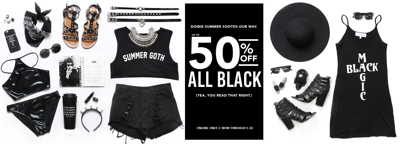 All black sale: 50% a Gypsy Warriornál