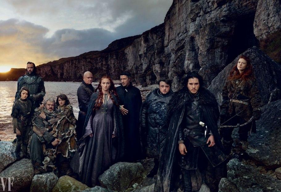 Maisie Williams, Rory McCann, Kristian Nairn, Isaac Hempstead-Wright, Conleth Hill, Sophie Turner, Aidan Gillen, John Bradley, Kit Harington, és Rose Leslie.