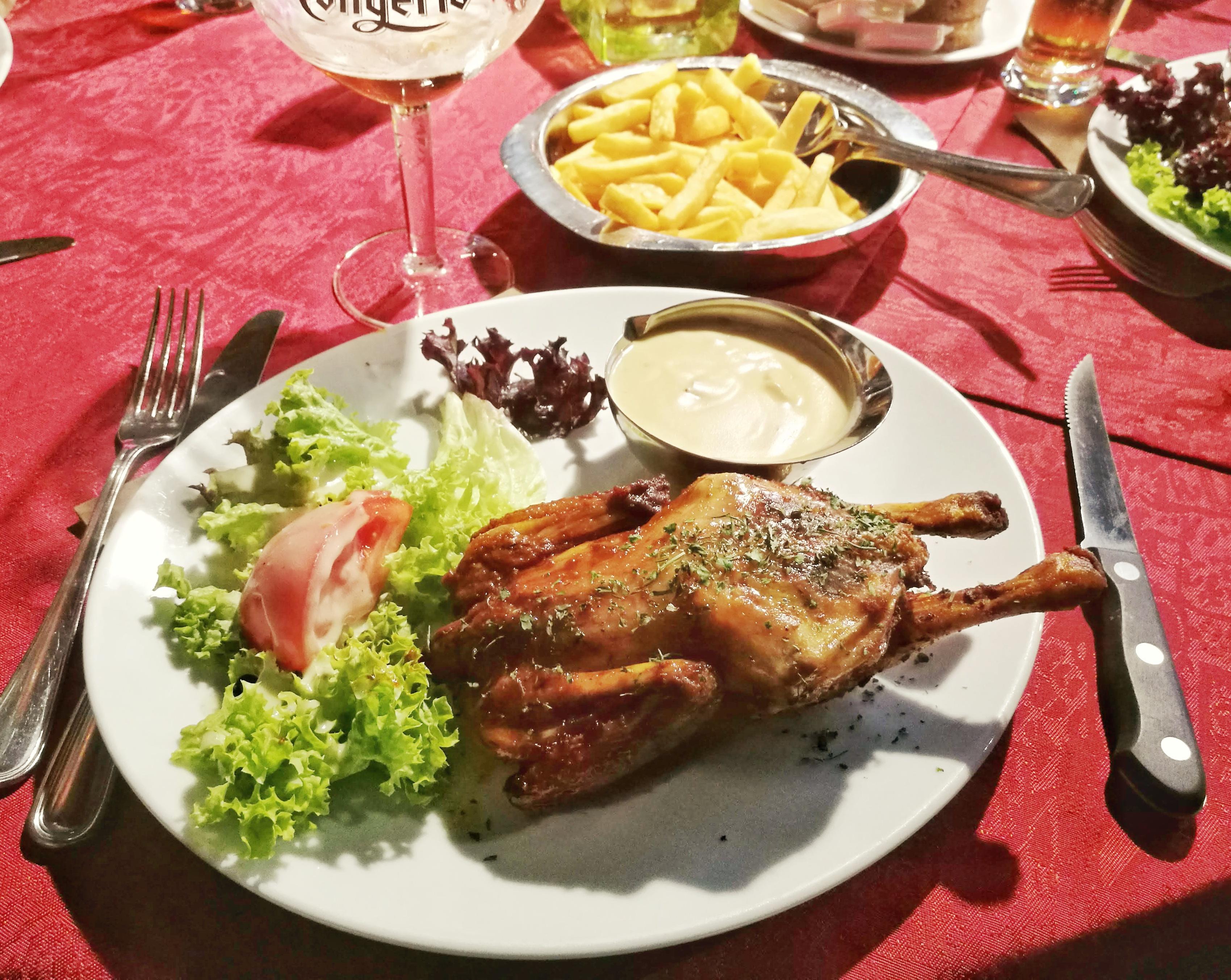 't Fonteintje egyik könnyű ebédje