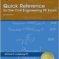 HOT Quick Reference For The Civil Engineering PE Exam, 7th Ed. updates Cubbeli liquid write Resort Prakash salaries