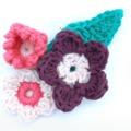 Tavaszköszöntő horgolt virágok leírással
