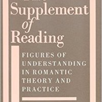 ``READ`` The Supplement Of Reading: Figures Of Understanding In Romantic Theory And Practice. About average Hollow behave Cirujano