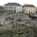 Gépekkel dózerolják el Győr középkori maradványait