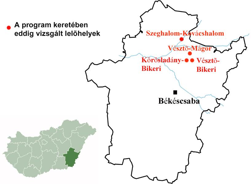 magyarország térkép szeghalom Újkőkori települések kutatása Békés megyében   Sírásók naplója magyarország térkép szeghalom