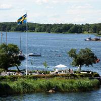A Norrhamnsbadet Waxholmban
