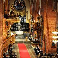 Istentisztelet a stockholmi Nagytemplomban