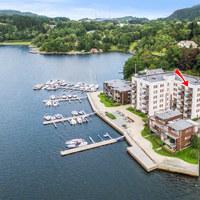 Bergeni luxusapartman kilátással