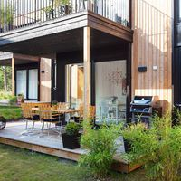 Ultramodern svéd otthon a természet lágy ölén