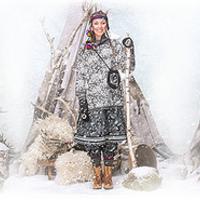 Téli-karácsonyi Gudrun Sjöden katalógus a népviselet jegyében