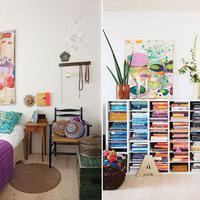 Csodálatosan színes dán lakás - látogatás egy festőművész különleges otthonában