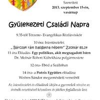 CSALÁDI NAP SZEPTEMBER 15.