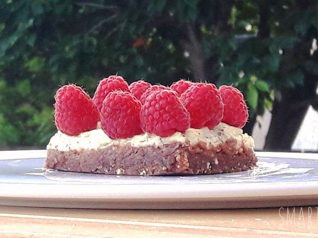 Túrós-málnás sütés nélküli süti Smarta konyhájából