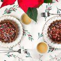 Dupla csokis mini torták karácsonyra