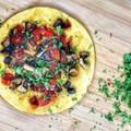 Vegán zöldséges csicseri omlett