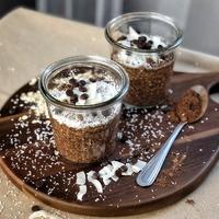 Csokis-kókuszos zabkása rohanós hétköznapokra