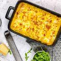 Brokkolis-sajtkrémmel töltött cannelloni sütőtökös-tejszínes mártásban
