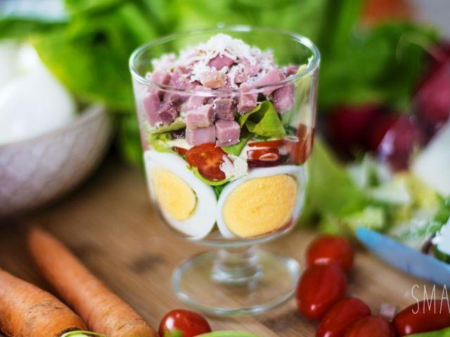 Húsvéti sonka pohárban tálalva Smarta konyhájából