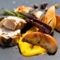 Egy igazi csajos vacsora: SousVide csirkemell gyümölcsökkel és sabayon mártással