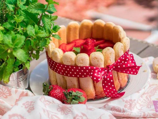 Sütés nélküli eper torta Anyák napjára