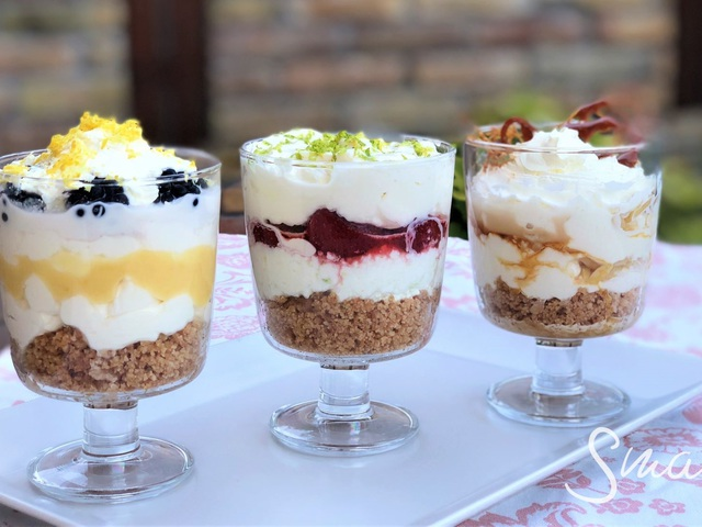 Sütés nélküli sajttorta pohárkrémek Smarta konyhájából