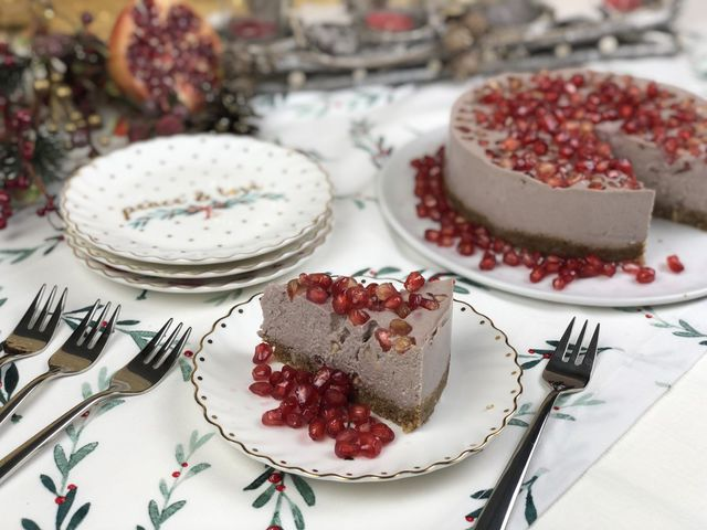 Vegán gránátalma torta