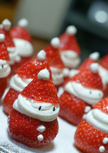 Egy csepp luxus: karácsonyi eper hóember