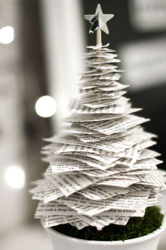 Papírfecni karácsonyfa (irodai dekorációnak tökéletes, amit a fölösleges nyomtatásokból készíthetsz :-) )