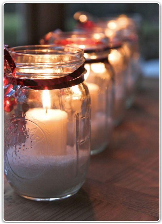 Befőttes üveg, só és szalag
